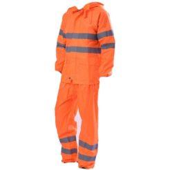 Αδιάβροχη Στολή Πορτοκαλί με Ανακλαστικές Ταινίες 5001-092