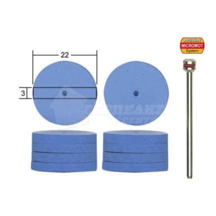 PROXXON MICROMOT 28294 - Δίσκοι Στίλβωσης Σιλικόνης Εύκαμπτοι Μοντελισμού 22mm Σετ 10 τμχ