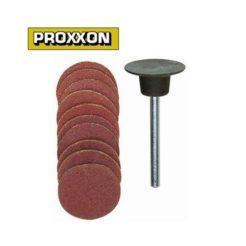 PROXXON 28982 - Γυαλόχαρτα Δίσκοι Λείανσης Μοντελισμού 18mm Σετ 10 τμχ με Ελαστική Βάση