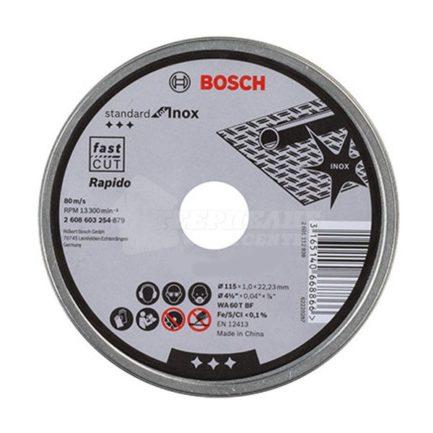 Δίσκοι Κοπής INOX 115 x 1 mm Σετ 10 τεμαχίων Bosch 2608603254