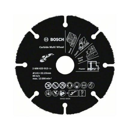 BOSCH 2608623012 Δίσκος Κοπής Καρβιδίου Πολλαπλών Χρήσεων 115 mm
