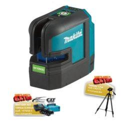 MAKITA SK106GDZ Αλφάδι Laser10.8V Πράσινης Δέσμης και Δώρο 2 Μπαταρίες 12V/2Ah + Φορτιστής σε Βαλίτσα + Τρίποδο