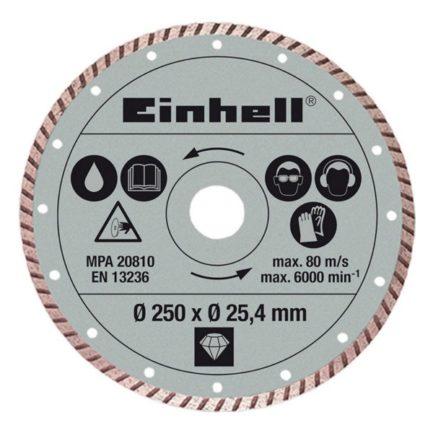 EINHELL 4301177 Διαμαντόδισκος Πέτρας 250x25.4mm Turbo