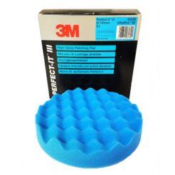3M 50388 Σφουγγάρι Γυαλίσματος Μαλακό Μπλε Perfect-it III 150mm