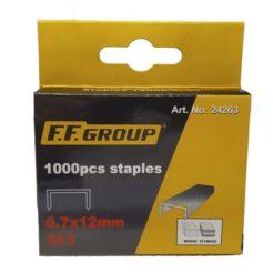 FF GROUP 24263 Δίχαλα Καρφωτικού 0,7x12mm S53 1000τμχ