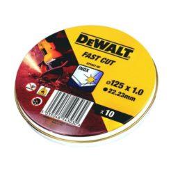 DEWALT DT3507 Δίσκοι Κοπής INOX 125 x 1 mm Σετ 10 τεμαχίων