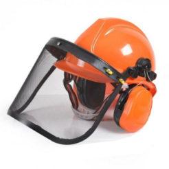 OEM 83005 Μάσκα - Κράνος Προστασίας με Δίχτυ και Ακουστικά Θαμνοκοπτικού