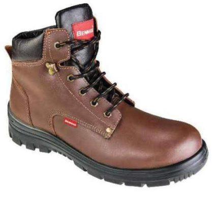 BENMAN S1/BL28 Παπούτσι - Μποτάκι Καφέ Ασφαλείας