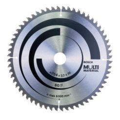 Πριονόδισκος Multi Material 254 x 30 mm 60 Δοντιών BOSCH 2608640449