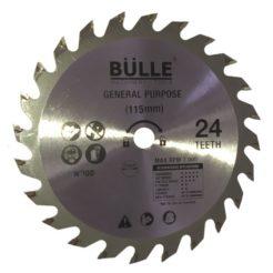 BULLE 64287 Δίσκος Κοπής Ξύλου Φ 115x9,5mm 24 Δόντια