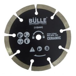 BULLE 64289 Διαμαντόδισκος Κοπής Κεραμικών Φ 115x9.5mm