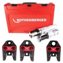 ROTHENBERGER 1.5730 ROMAX AC ECO Πρέσσα Ηλεκτρική Εξαρτημάτων για Σωληνες 16-20-26mm Σετ Με 3 Καλούπια