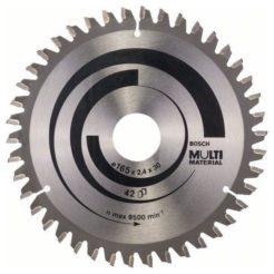 BOSCH Multi Material Δίσκος Κοπής Δισκοπρίονου Πολλαπλών Χρήσεων 165x30 (2608640519)