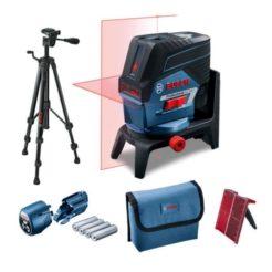 BOSCH 0601066G02 GCL 2-50C Αλφάδι Laser Γραμμών με Βάση Στήριξης RM2 και Τρίποδα BT 150