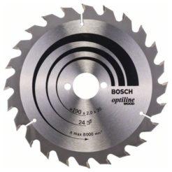 BOSCH Optiline Wood Πριονόδισκος 190x30mm (2608641185)