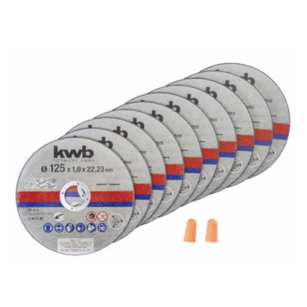 KWB 49712022 Διαμαντόδισκοι Κοπής 125mm Σετ 10τμχ με Ωτοασπίδες