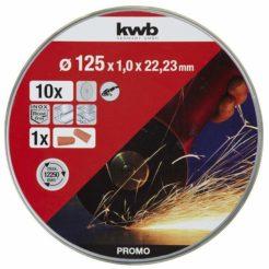KWB 49712022 Δίσκος Κοπής 125mm Σετ 10τμχ με Ωτοασπίδες
