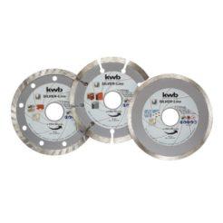 KWB 49797085 Σετ Διαμαντόδικοι Κοπής Σκυροδέματος-Κεραμικών-Πλακιδίων 125mm 3τμχ
