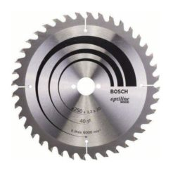 BOSCH 2608640728 Δίσκος Κοπής Ξύλου 250x30mm με 40 Δοντια