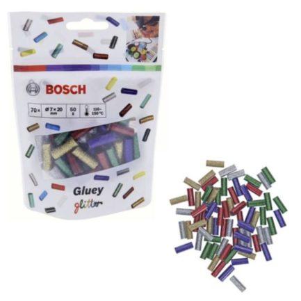 BOSCH 2608002006 Ανταλλακτικά Φυσίγγια Mini-Sticks Θερμαινόμενης Σιλικόνης Χρωματιστά Glitter 20mm για GLUEY PEN