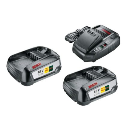 BOSCH SET STRARTER Σετ 2 Μπαταρίες 18V 2,5Ah με Φορτιστή Power 4All (1600A011LD)