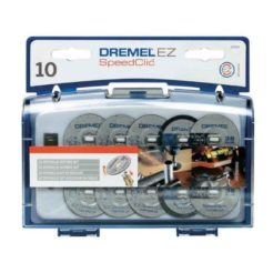 DREMEL SC690 SpeedClic Δίσκοι Κοπής Μετάλλου+Πλαστικού 38mm Σετ 10τμχ με Κασετίνα (2615S690JA)