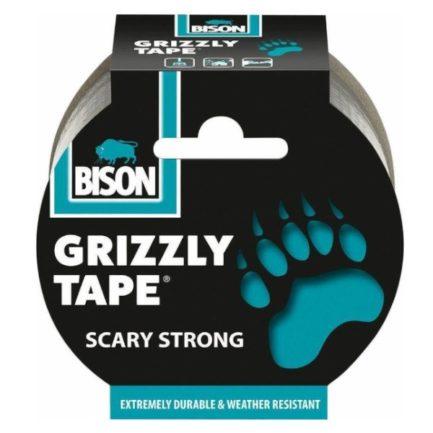 BISON 26186 Grizzly Tape Ταινία 50mm Υφασμάτινη Επισκευαστική Ασημί 10m