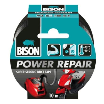 BISON 26204 Power Repair Ταινία Υφασμάτινη Επισκευαστική Μαύρη 10m