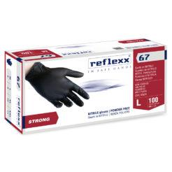Κουτί με 100 τεμάχια γάντια νούμερο σε μαύρο χρώμα, νιτριλίου