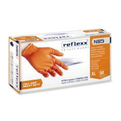 REFLEX N85 Γάντια Πορτοκαλί Νιτριλίου Κουτί 50τμχ