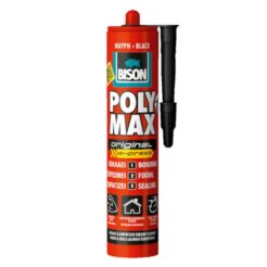 BISON 22630 Polymax Σιλικόνη Μαύρη 280ml