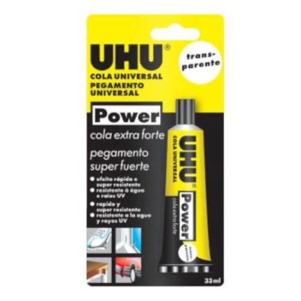 UHU 43910 Power Κόλλα Γενικής Χρήσης Διάφανη 33ml