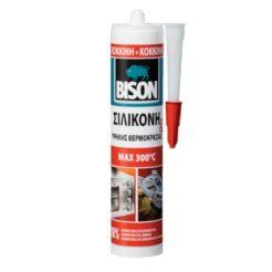 BISON 66918 High Temp Σιλικόνη Θερμοκρασίας Κόκκινη 300°C 280ml
