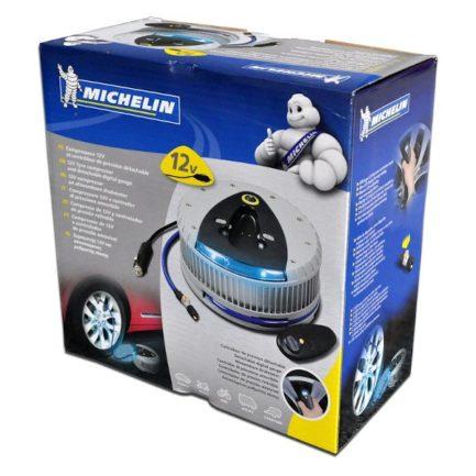 MICHELIN 009521 Κομπρεσέρ Αέρος Αυτοκινήτου 12V με Εξωτερικό Μετρητή Πίεσης