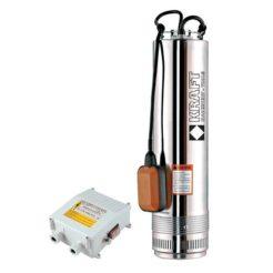KRAFT SCM4 Αντλία Υποβρύχια Πηγαδιών με Φλοτέρ και Πίνακα Με Θερμικό Και ON/OFF 750W (63522)