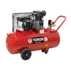 TOROS ZA65-100 Αεροσυμπιεστής Επαγγελματικός Με Ιμάντα 3Hp 100Lt (40144)