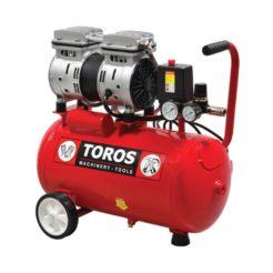TOROS 40145 Αεροσυμπιεστής Μονομπλόκ Χαμηλού Θορύβου Oil Free 0,75Hp 24L