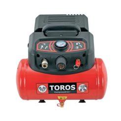 TOROS 602036 Αεροσυμπιεστής Μονομπλόκ Oil Free Φορητός 1,5Hp 6L