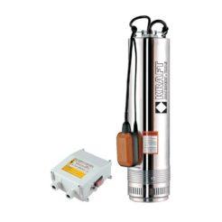 KRAFT SCM6 Αντλία Υποβρύχια Πηγαδιών Με Φλοτέρ Και Πίνακα Με Θερμικό 1100W (63523)