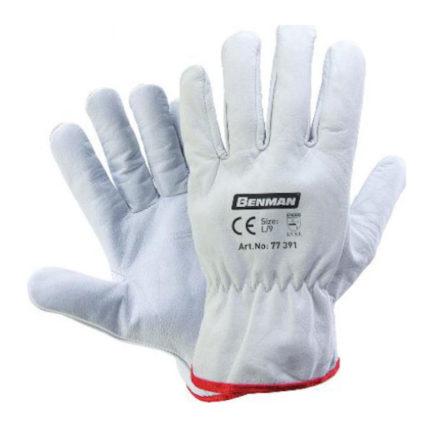 BENMAN Γάντια Εργασίας Δερμάτινα Λευκά