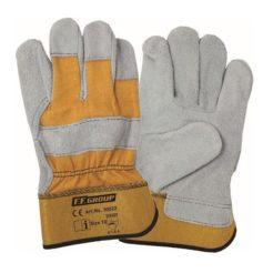 FFGROUP 30021 Γάντια Δερμάτινα με Ύφασμα XL