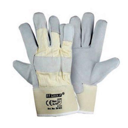 FFGROUP 30023 Γάντια Δερμάτινα με Ύφασμα XL