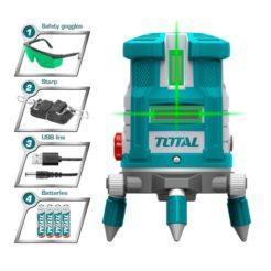 TOTAL TLL305205 Αλφάδι Laser Πράσινης Δέσμης
