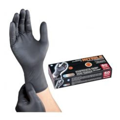 PG TOOLS Γάντια Μαύρα Νιτριλίου Medium 50τμχ 50610