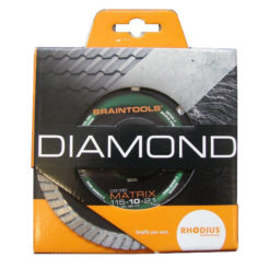 RHODIUS DG100 Matrix Διαμαντόδισκος 115mm Κοπής Γρανίτη Πέτρας Μπετού Δομικών Υλικών