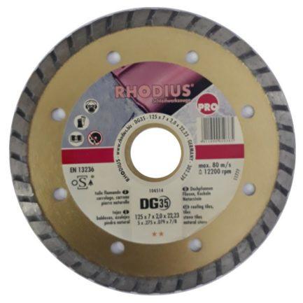RHODIUS DG35 Διαμαντόδισκος Κοπής Κεραμιδιών 125mm