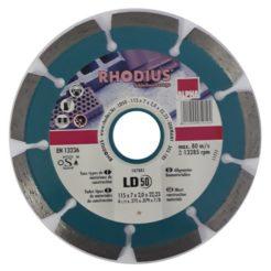 RHODIUS LD50 Διαμαντόδισκος Κοπής Δομικών Υλικών 115mm (107881)