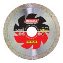 BENMAN 74485 Classic Διαμαντόδισκος Κοπής Πλακιδίων 125mm