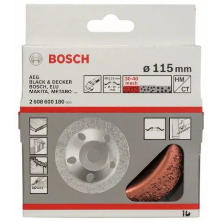 BOSCH 2608600180 Ποτηροειδής Δίσκος Σκληρομετάλλου Ψιλής Λεπτότητας 115mm