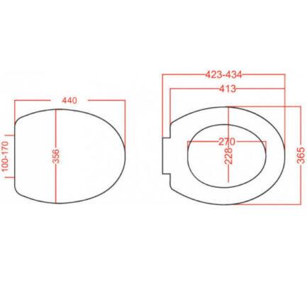 VIOSPIRAL RELAX Καπάκι Λεκάνης Λευκό Βαρέως Τύπου 56-3250